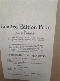 Limited edition print by Janet W.  Kimberling