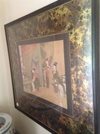 Framed Asian art
