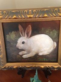 Darling framed rabbit art by Tyler artist Penny Nichols-Sanders.