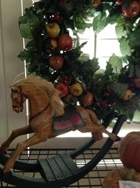 Wreath and rocking horse