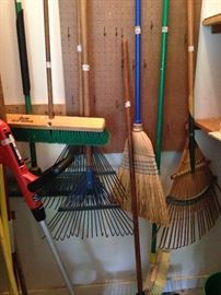 Brooms and racks