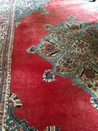 8 feet x 10 feet 9 inches Persian Mashad rug
