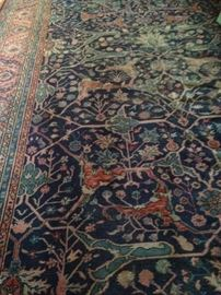 Fabulous antique Turkish rug - 9 feet 8 inches x 19 feet 5 inches