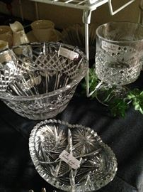Crystal and glass dishes