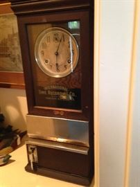 Antique clock - International Time Recording Co, Endicott, New York USA