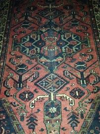 Persian Hamadan 4 feet 6 inches x 6 feet 6 inches rug