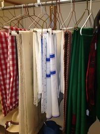 Assorted table cloths