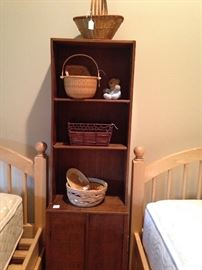 Small cabinet and assorted baskets