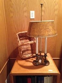 One of many baskets; another lamp selection