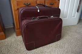 Vintage Two-piece Leather Luggage Set