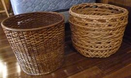"Two woven baskets, larger is 19"" Dia. 16"" H"
