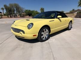 2002 Ford Thunderbird coupe convertable w/ hard top