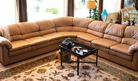 High End Genuine Leather Sectional