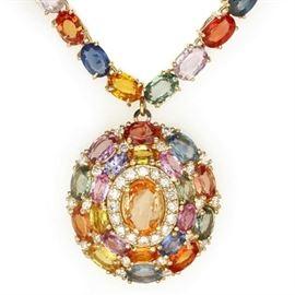 Multi-Colored Sapphire Necklace