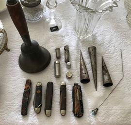 Old Bell, Tobacco Spears, Vintage Pocket Knives & More