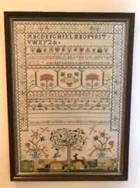 Large Hand Stitched Sampler