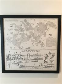 Lake Minnetonka Map - Steve D. Olson 1981