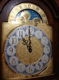 Face of Ridgeway Grandfather Clock