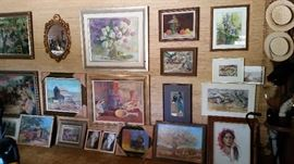 Just a few works of original art...LOTS more