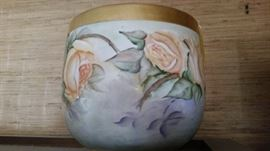 Antique hand-painted jardiniere
