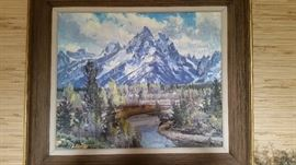 Conrad Schweiring original oil   other originals by Harold Hopkinson, Gene Dougherty,  Don Ricks