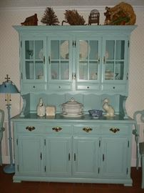 Cute blue painted hutch