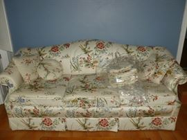 Nice Asian-style fabric..upholstered sofa