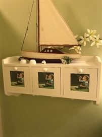 Wall shelf/photo Deco Sail Boat