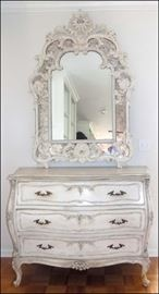 French Bombe Chest with Mirror