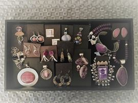 Sterling silver jewelry with natural stones from Desert Rose Trading and others, all 50% off!