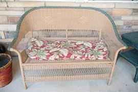 Outdoor Patio Wicker Bench