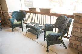 Outdoor Conversation Wicker Set