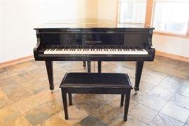Black Kohler & Campbell Baby Grand Piano