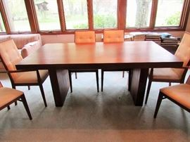 Dining Table with Panel Base in Excellent Condition