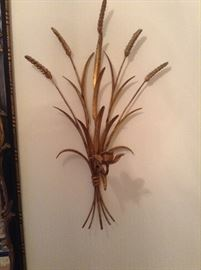 Pair of wheat sconces