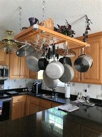Pot Rack is not for sale, but all on it is.