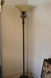 One of two floor lamps.