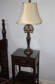 Dixie night stand and table lamp.