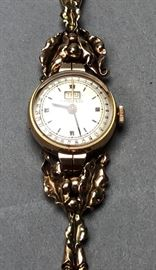 Lot 2 TIFFANY  CO 14K Gold Ladies Watch. Modernist fol