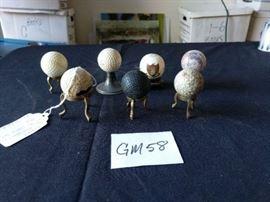7 display old golf balls