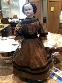 Antique china head doll with all original clothing
