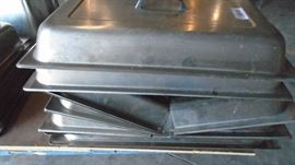 Stainless Steel Warming Tray Lids.