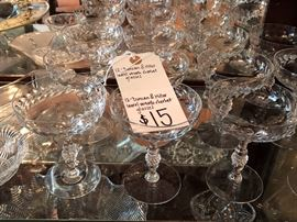"""Duncan and Miller """"Laurel Wreath"""" campaign coupes or sherbets 12 for only $15.00 !!!!"""