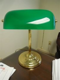 $45 Desk lamp with green shade