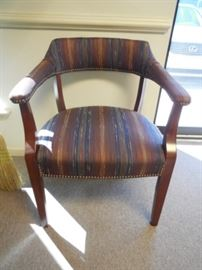 $125 Striped arm chairs (3 available)