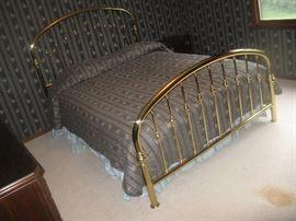 Solid Brass Queen Bed