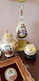 Dresden urn and dresser box