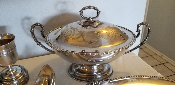beautiful Silverplate and some sterling silver