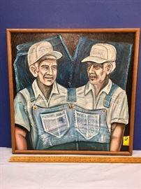 "Original Art: ""Blue Genes"" Edwin Ryan Bailey 1998"