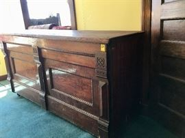 Antique Store Cabinet Counter